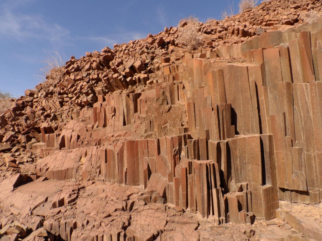 Basaltformation Orgelpfeifen