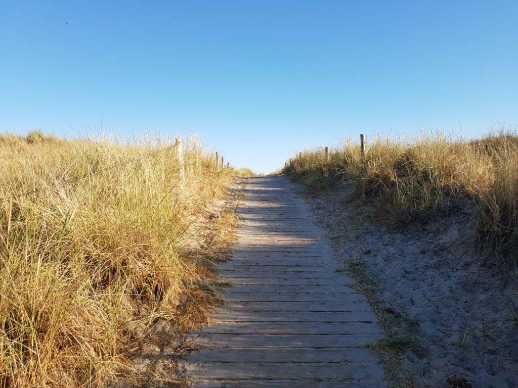 Weg über Dünen