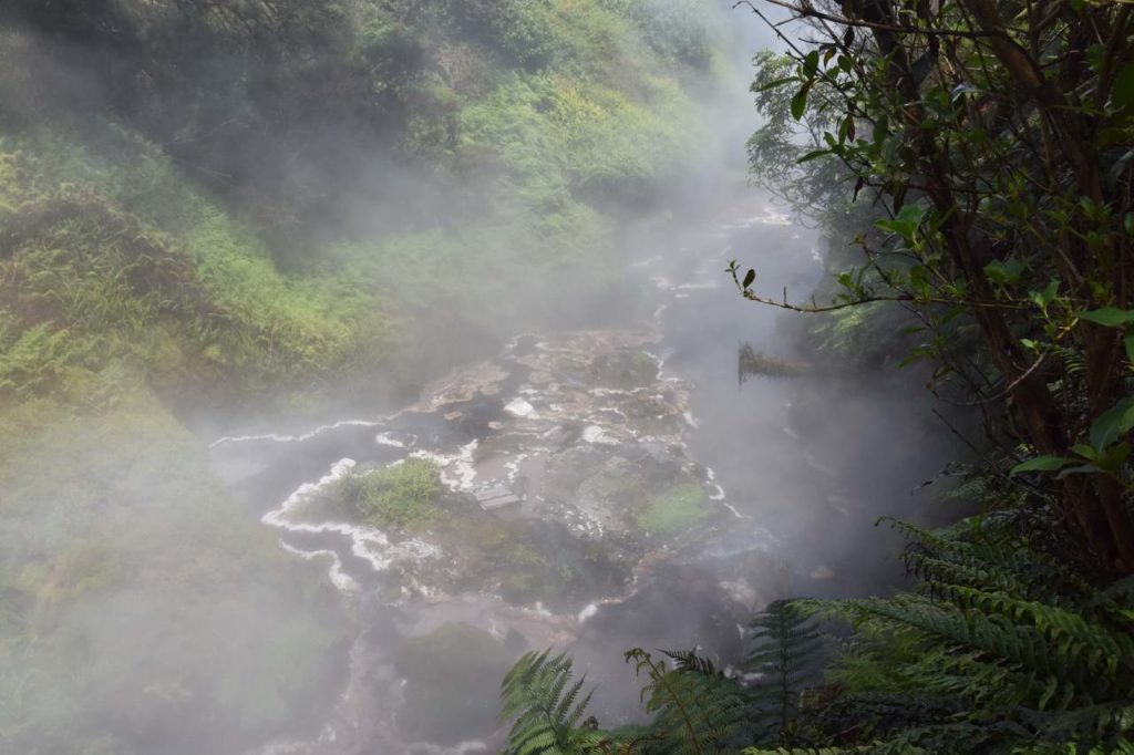 Heißer Fluss im Waikite Valley