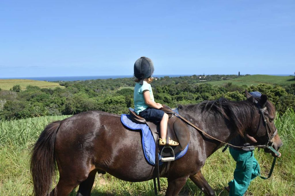 Ponyreiten an der South Coast