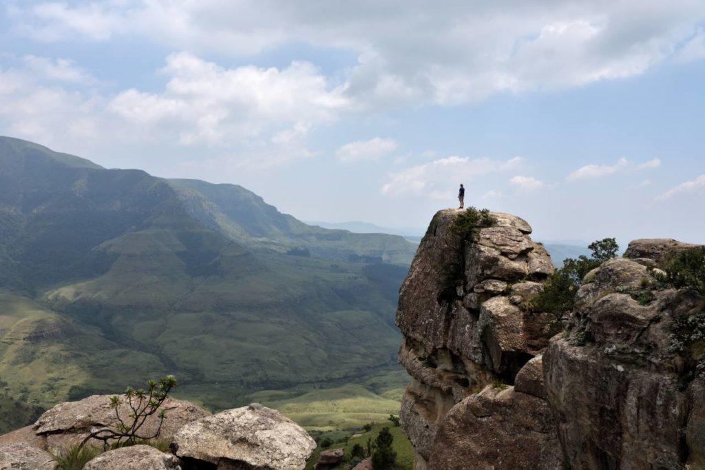 Drakensberg Monks Cowl Ausblick von der Sphinx