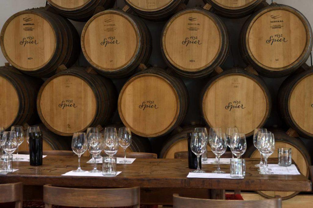 Weinprobe im Weingut Spier